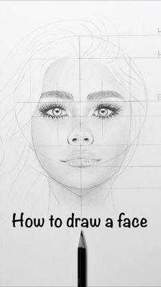 Art Drawings Beautiful, Art Drawings Sketches Simple, Pencil Art Drawings, Realistic Drawings, Face Drawings, Portrait Sketches, How To Draw Realistic, Anime Eyes Drawing, Face Profile Drawing