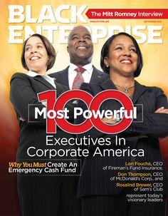 Check out Black Enterprise's September 2012 Cover!