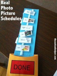 Real Photo Picture Schedules {video tutorial} - The Autism Helper Autism Classroom, Special Education Classroom, Autism Information, Visual Schedules, Daily Schedules, Autism Parenting, Autism Resources, School Psychology, School