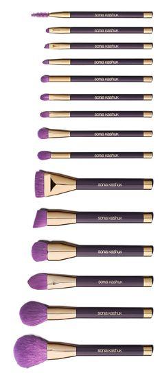 Purple Sonia Kashuk Brush Couture Set ✿ ☂ ✿. ✿