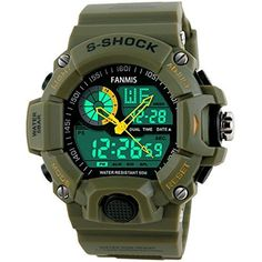 32aae671577 Paracord Survival Watch Thermometer Tactical Compass Fire Starter Razor  Green Relógios Para Homens