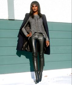 Outfit of the day: chunky sweater & leather see more @ www.stylemydreams.wordpress.com