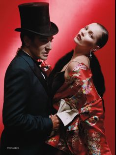 Kate Moss & John Galliano by Tim Walker - Vintage John Galliano Kimono