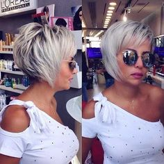 423 Likes 2 Comments Jean Claude El Moughayar ( on Insta. 423 Likes 2 Comme Choppy Hair, Choppy Bob Hairstyles, Cool Hairstyles, Pixie Haircuts, Short Hair Cuts For Women, Short Hairstyles For Women, Short Hair Styles, Longer Pixie Haircut, Great Hair