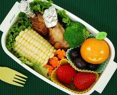 Chicken and Jack oTangerine Bento by sherimiya ♥, via Flickr