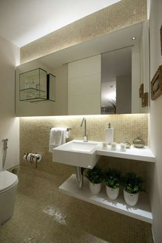 Casa Adorada: 21 ideias para decorar banheiros e lavabos