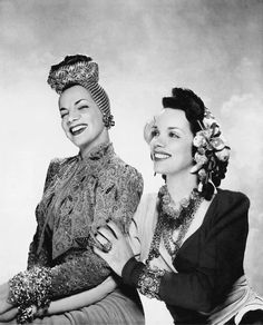 Carmen Miranda and her sister Aurora, 1941, in a photo by George Platt Lynes for…