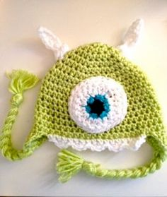 Monster Baby Beanie Crochet Pattern PDF Sizes by BabyRaeCrochet