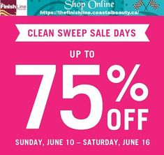 It's time to get excited for our Clean Sweep Sale Days! This week - long sale starts tomorrow and is sure to beat expectations. Get the Professional. Clean Sweep, First Order, Online Deals, Get Excited, Beauty Products, June, How To Get, Cleaning