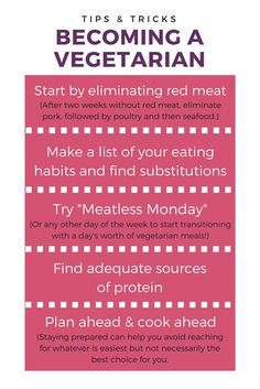 Interested in becoming a vegetarian? Here are some of our best tips & tricks for getting started!