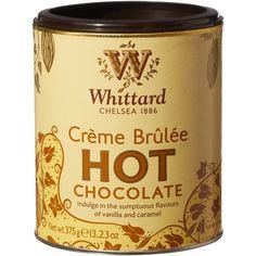 Crème Brûlée White Hot Chocolate ($8.35) ❤ liked on Polyvore
