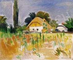 Géza Bornemisza - House with Sunflower Paintings, House, Art, Art Background, Paint, Home, Painting Art, Kunst, Performing Arts