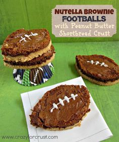 Nutella Brownie Footballs | Crazy for Crust