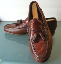 Vintage Johnston & Murphy Handsewn Tassle Loafer Crown Aristocrat by TheOldBagOnline on Etsy
