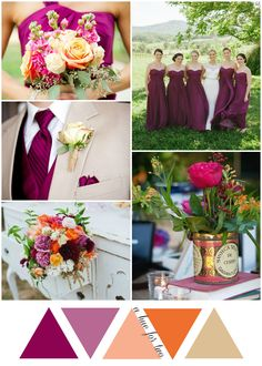 Sangria and Orange Summer Wedding - Wedding Planning - Wedding Colors - A Hue For Two | www.ahuefortwo.com