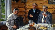 Шумилов Вячеслав Фёдорович (1931-2004) «9 мая. Однополчане» 1969