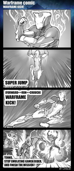 I lIke warframe because it reminds me of awesome Kamen Rider.