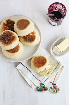 Homemade English Muffins What a cool recipe to try.  Then I'll have to make some Plant Cuty Strawberry Preserves!