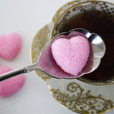 homemade heart sugar cube ~ they are super easy to make and add such a nice detail to a party or just make daily tea drinking extra special. great for Valentines Day Do It Yourself Decoration, Tea Party Bridal Shower, Bridal Luncheon, Bridal Showers, Sugar Cubes, Sweet Tea, Be My Valentine, Valentine Ideas, High Tea