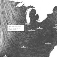 a pair of Google researchers visualized the wind patterns throughout the United States.