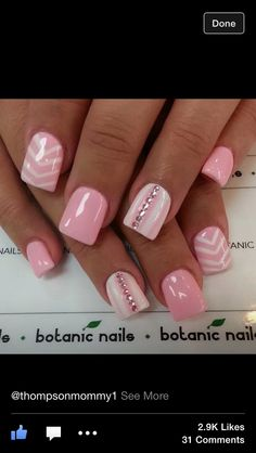 Pretty pink nails | See more at http://www.nailsss.com/colorful-nail-designs/3/