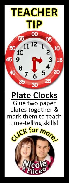 Make your own practice clocks with 2 paper plates!