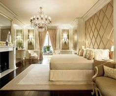 Decorate Luxury Bedroom Interior Designneutral Light....Hey girl hey follow my blog where everyday I empower you to be fab, fierce, free, and BUILD AN ONLINE EMPIRE! www.fabfiercefreedom.com