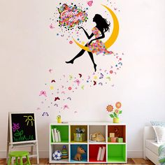 DIYW Butterfly Fairy Good-Night Wishes Wall Decal Mural