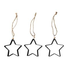 VINTER Adorno colgante, estrella negro 3 u € 5,99 | IKEA Ref. 903.255.56