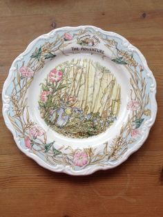 """Brambly Hedge """"The Adventure"""" Round Plate"""