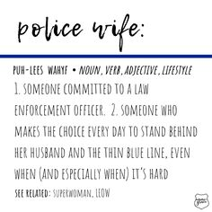 Police Wife Life is making the choice every day to stand behind our officer 💙 Sheriff Deputy Wife, Police Officer Wife, Police Wife Life, Leo Wife, Line Love, Law Enforcement Officer, Blue Bloods, Thin Blue Lines, Photo And Video