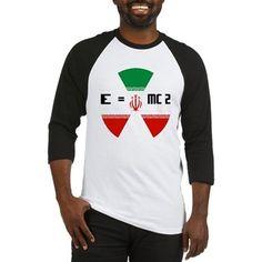 NUCLEAR IRAN E = MC2 Baseball Jersey