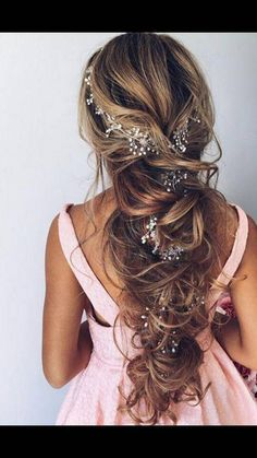 FREE SHIPPING Extra Long Bridal Hair Vine Bridal Wreath by LeraLem