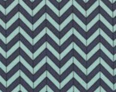 Moda PB&J Hip Fab Chevron Picnic Blue Basic Grey Quilting Cotton 1 yard