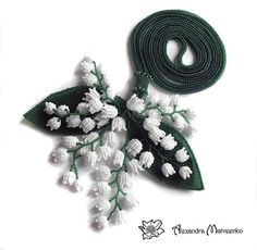"Fair Masters - handmade Lariat ""Lilies of the Valley.""  Handmade. Alexander Matvienko"