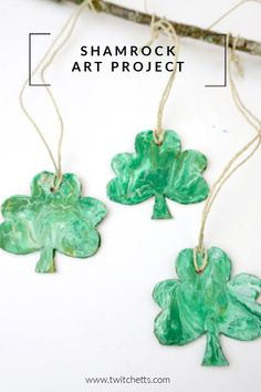 Create a beautiful pour painted shamrock mobile. This one of a kind St Patrick's Day art project will make a fun decoration for your classroom or playroom! Saint Patricks Day Art, St Patricks Day Crafts For Kids, St Patrick's Day Crafts, Happy St Patricks Day, Kid Crafts, Mobile Craft, Rainbow Crafts, Diy For Kids, Big Kids