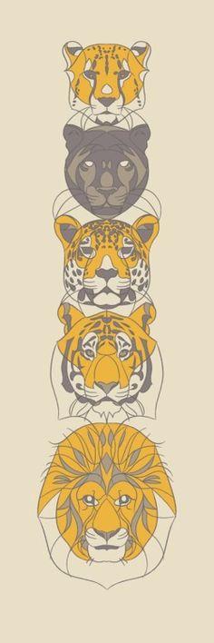Wild Cats Illustration
