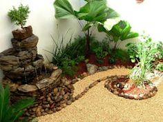 Fuente, bonsai, piedras y lamparita:  de estilo  por Zen Ambient
