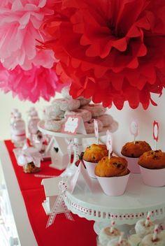 Lovely Valentine's Day dessert table