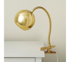 Gold Vintage Clip On Table Lamp.