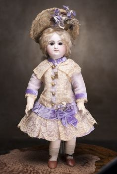 "18"" (46 cm) Antique Rare French Bisque Bebe Doll by Rabery and from respectfulbear on Ruby Lane"