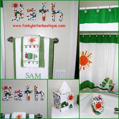 The Very Hungry Caterpillar Kids Bathroom Ideas by www.funkyletterboutique.com | kids décor | kids bathroom decor