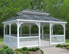 Vinyl Double Roof Rectangle Gazebos