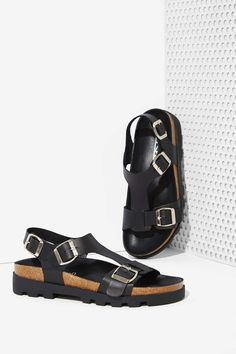 Sixty Seven Neva Leather Sandal