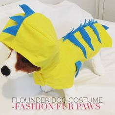 Excited to share this item from my shop: Flounder Fish Costume , Dog Costume, Halloween costume for dogs, Disney Inspired Flounder Dog Costume, Little Mermaid Inspired Flound Costum Disney Dog Costume, Diy Dog Costumes, Disney Halloween Costumes, Costume Ideas, Flounder Costume, Fish Costume, Walt Disney Cartoons, Disney Dogs, Halloween Costunes