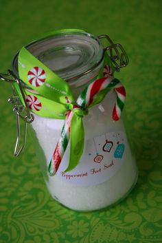 Teacher and Employee appreciation: Project Homemade Christmas: Peppermint Foot Soak...