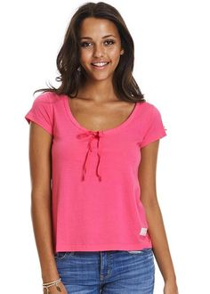 T-shirt pink 117M-691 Lazyass s/s Top - hot pink