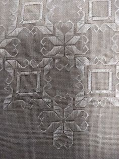ciobanu emilia's media content and analytics Hardanger Embroidery, Embroidery Hoop Art, Cross Stitch Embroidery, Embroidery Patterns, Burlap Tablecloth, Christmas Table Cloth, Vintage Tablecloths, Running Stitch, Bargello