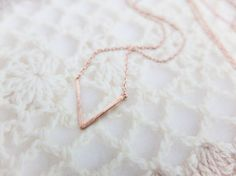 V Necklace Triangle necklace Rose Gold necklace Geometric necklace Dainty necklace Christmas Gift mom Birthday Gift best friend Birthday on Etsy, £9.52