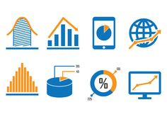 Business Diagram Icons Vector Illustrations, Vector Icons, Graphic Design Projects, Diagram, Business, Free, Store, Business Illustration